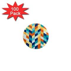 Geometric Retro Wallpaper 1  Mini Magnets (100 Pack)