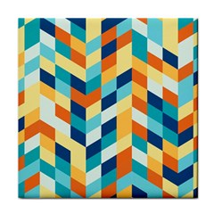 Geometric Retro Wallpaper Face Towel