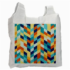 Geometric Retro Wallpaper Recycle Bag (two Side)