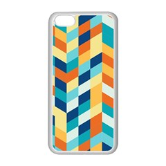 Geometric Retro Wallpaper Apple Iphone 5c Seamless Case (white)