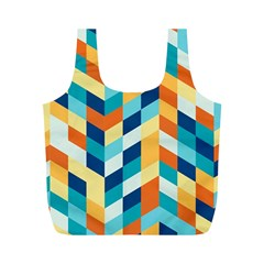 Geometric Retro Wallpaper Full Print Recycle Bags (m)  by Nexatart