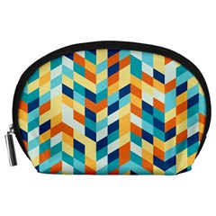 Geometric Retro Wallpaper Accessory Pouches (large)  by Nexatart