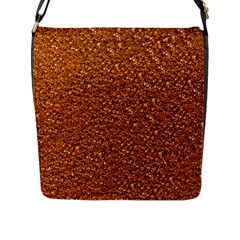 Sparkling Glitter Terra Flap Messenger Bag (l)  by ImpressiveMoments
