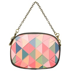 Background Geometric Triangle Chain Purses (two Sides)  by Nexatart