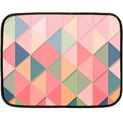 Background Geometric Triangle Double Sided Fleece Blanket (mini)  by Nexatart