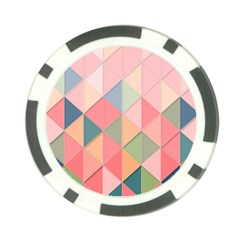 Background Geometric Triangle Poker Chip Card Guard (10 Pack)