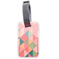 Background Geometric Triangle Luggage Tags (two Sides)