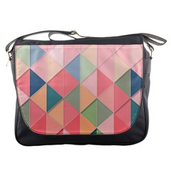 Background Geometric Triangle Messenger Bags by Nexatart
