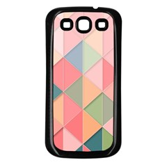 Background Geometric Triangle Samsung Galaxy S3 Back Case (black)