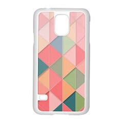 Background Geometric Triangle Samsung Galaxy S5 Case (white) by Nexatart
