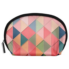 Background Geometric Triangle Accessory Pouches (large)