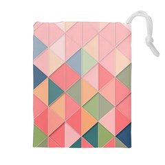 Background Geometric Triangle Drawstring Pouches (extra Large) by Nexatart