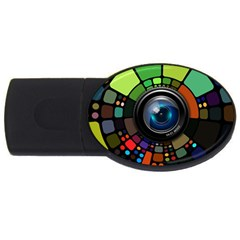 Lens Photography Colorful Desktop Usb Flash Drive Oval (2 Gb)