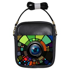 Lens Photography Colorful Desktop Girls Sling Bags by Nexatart