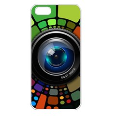 Lens Photography Colorful Desktop Apple Iphone 5 Seamless Case (white)