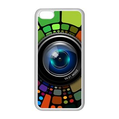 Lens Photography Colorful Desktop Apple Iphone 5c Seamless Case (white)