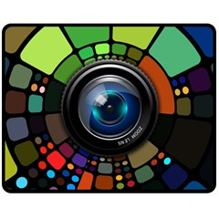 Lens Photography Colorful Desktop Double Sided Fleece Blanket (medium)