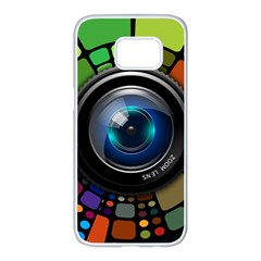 Lens Photography Colorful Desktop Samsung Galaxy S7 Edge White Seamless Case by Nexatart