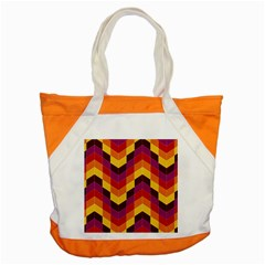 Geometric Pattern Triangle Accent Tote Bag