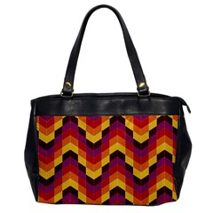 Geometric Pattern Triangle Office Handbags by Nexatart