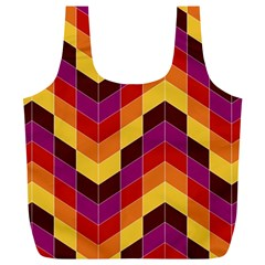 Geometric Pattern Triangle Full Print Recycle Bags (l)  by Nexatart