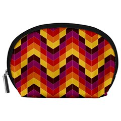Geometric Pattern Triangle Accessory Pouches (large)  by Nexatart