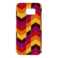 Geometric Pattern Triangle Samsung Galaxy S7 Edge Hardshell Case by Nexatart