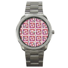 Background Abstract Square Sport Metal Watch