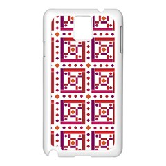 Background Abstract Square Samsung Galaxy Note 3 N9005 Case (white)