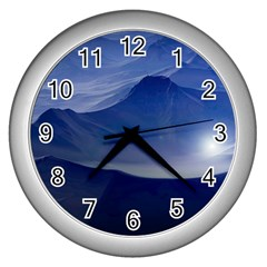 Planet Discover Fantasy World Wall Clocks (silver)  by Nexatart