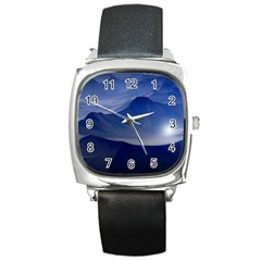 Planet Discover Fantasy World Square Metal Watch