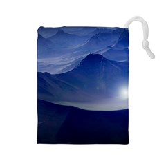 Planet Discover Fantasy World Drawstring Pouches (large)  by Nexatart