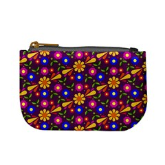Flower Pattern Illustration Background Mini Coin Purses by Nexatart