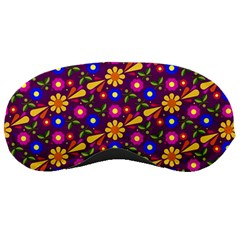 Flower Pattern Illustration Background Sleeping Masks by Nexatart