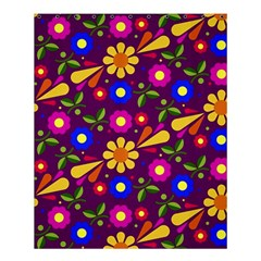 Flower Pattern Illustration Background Shower Curtain 60  X 72  (medium)  by Nexatart