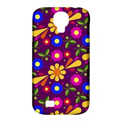 Flower Pattern Illustration Background Samsung Galaxy S4 Classic Hardshell Case (pc+silicone)