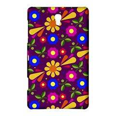 Flower Pattern Illustration Background Samsung Galaxy Tab S (8 4 ) Hardshell Case