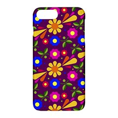 Flower Pattern Illustration Background Apple Iphone 7 Plus Hardshell Case
