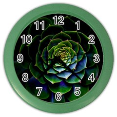 Nature Desktop Flora Color Pattern Color Wall Clocks by Nexatart