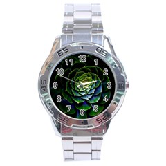 Nature Desktop Flora Color Pattern Stainless Steel Analogue Watch by Nexatart