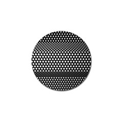 Holes Sheet Grid Metal Golf Ball Marker