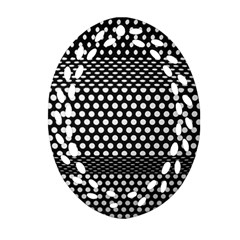 Holes Sheet Grid Metal Ornament (oval Filigree) by Nexatart