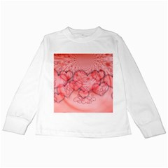 Heart Love Friendly Pattern Kids Long Sleeve T Shirts by Nexatart