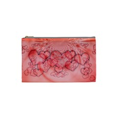 Heart Love Friendly Pattern Cosmetic Bag (small)  by Nexatart