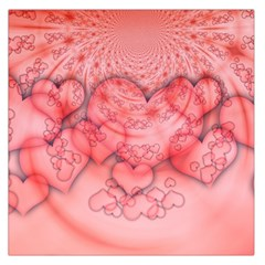 Heart Love Friendly Pattern Large Satin Scarf (square) by Nexatart
