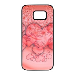 Heart Love Friendly Pattern Samsung Galaxy S7 Edge Black Seamless Case