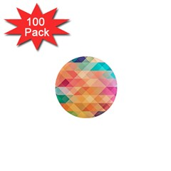 Texture Background Squares Tile 1  Mini Magnets (100 Pack)