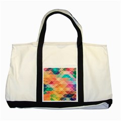 Texture Background Squares Tile Two Tone Tote Bag