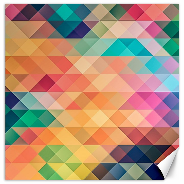 Texture Background Squares Tile Canvas 12  x 12