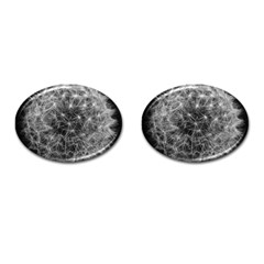 Dandelion Fibonacci Abstract Flower Cufflinks (oval)